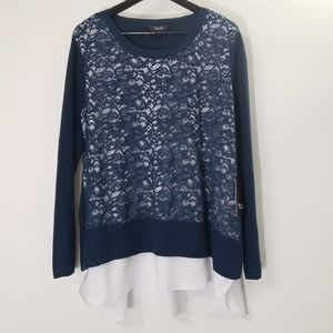 Simply Very Wang Overlay Sweater, size 1X